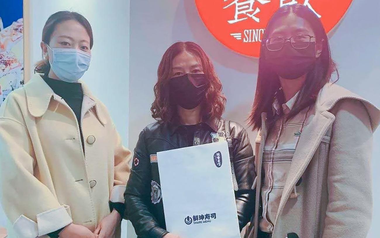 恭喜嘉兴李女士签约鲜珅寿司区域代理!